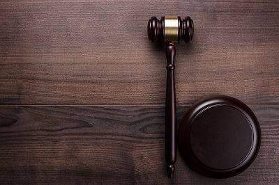 a gavel sits on a judge's desk during a DWAI case